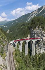 Rhb Ge 4/4 III 642 Landwasser Viaduct - Filisur 20/07/2019