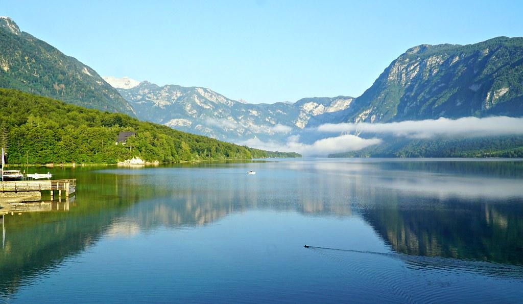 Kalastus Sloveniassa mahtavissa maisemissa