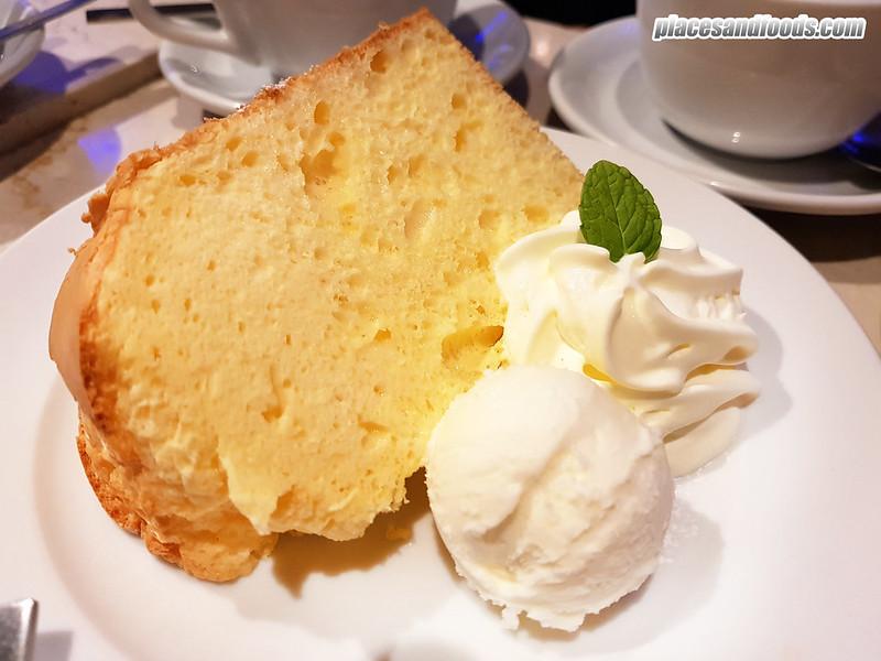 cafe moni okayama cream cheese chiffon cake