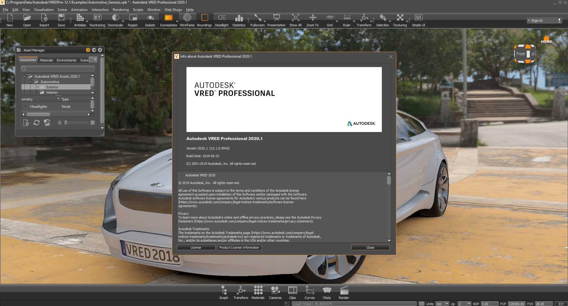 Working with Autodesk VRED Professional 2020.1 x64 full license