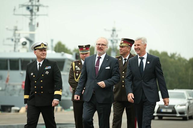 Valsts prezidents Egils Levits piedalās Latvijas Kara flotes 100. gadadienas pasākumos