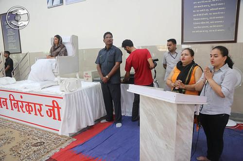 Devotees imploring his gratitude through song
