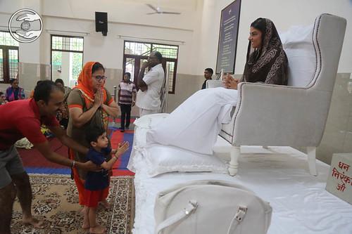 Child devotee seeking blessings