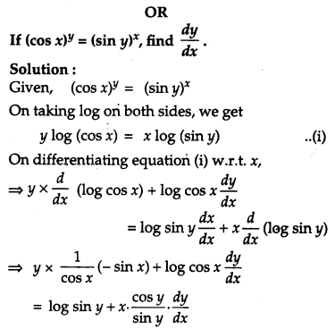CBSE Previous Year Question Papers Class 12 Maths 2019 Outside Delhi 31