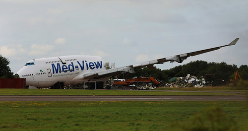 medview boeing 747412 tfamv scrapping kemble