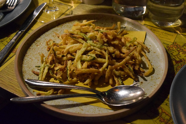 Russell Norman's Shoestring Zuchinni Fries at The Compasses Inn