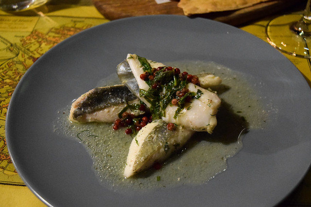 Russell Norman's John Dory with Pink Peppercorns at The Compasses Inn
