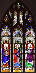 Christ the Good Shepherd flanked by St Peter and St John (William Wailes, 1853)