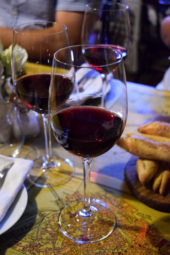 Chilled Italian Red Wine at The Compasses Inn
