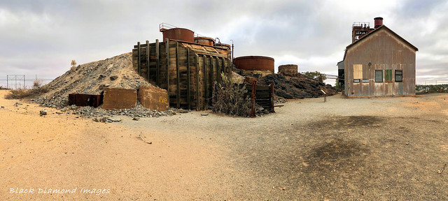 The Junction Mine, Winderhouse and Browne Shaft, Broken Hill, Western NSW,