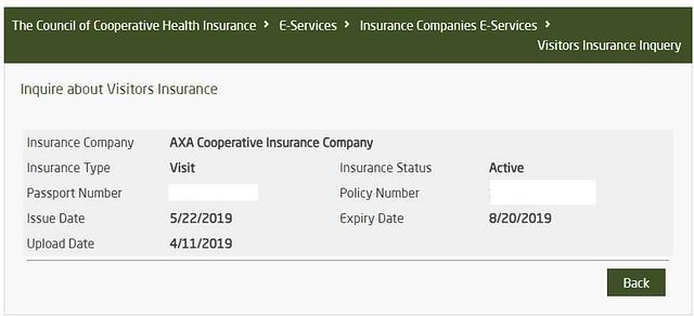 5148 How to check Health Insurance validity of Visit Visa holder 02