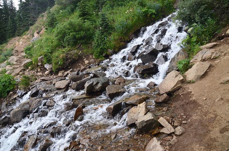 Waterfall stream on the Arapaho Pass trail (2)