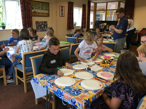 Making flying saucers which were tested in the chapel yard
