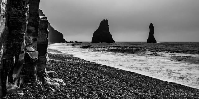 Rainy and windy day on Vik (Iceland)
