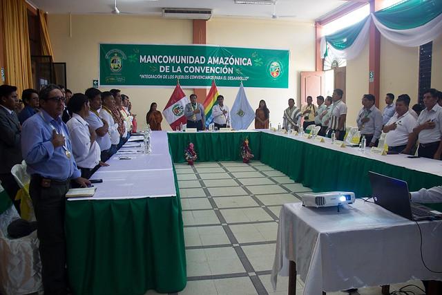Sesión ordinaria de la Mancomunidad Amazónica de La Convención en el Distrito de Pichari