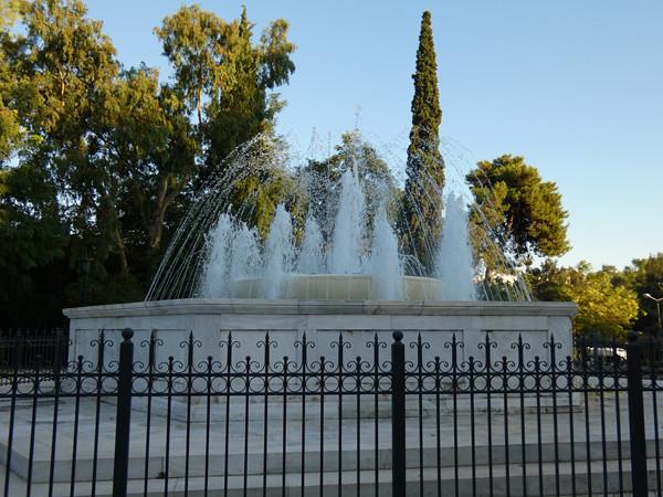la fontaine du Zappeion