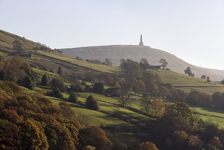 Stoodley Pike Monument, Langfield Common near Todmorden, Calderdale, West Yorkshire, UK