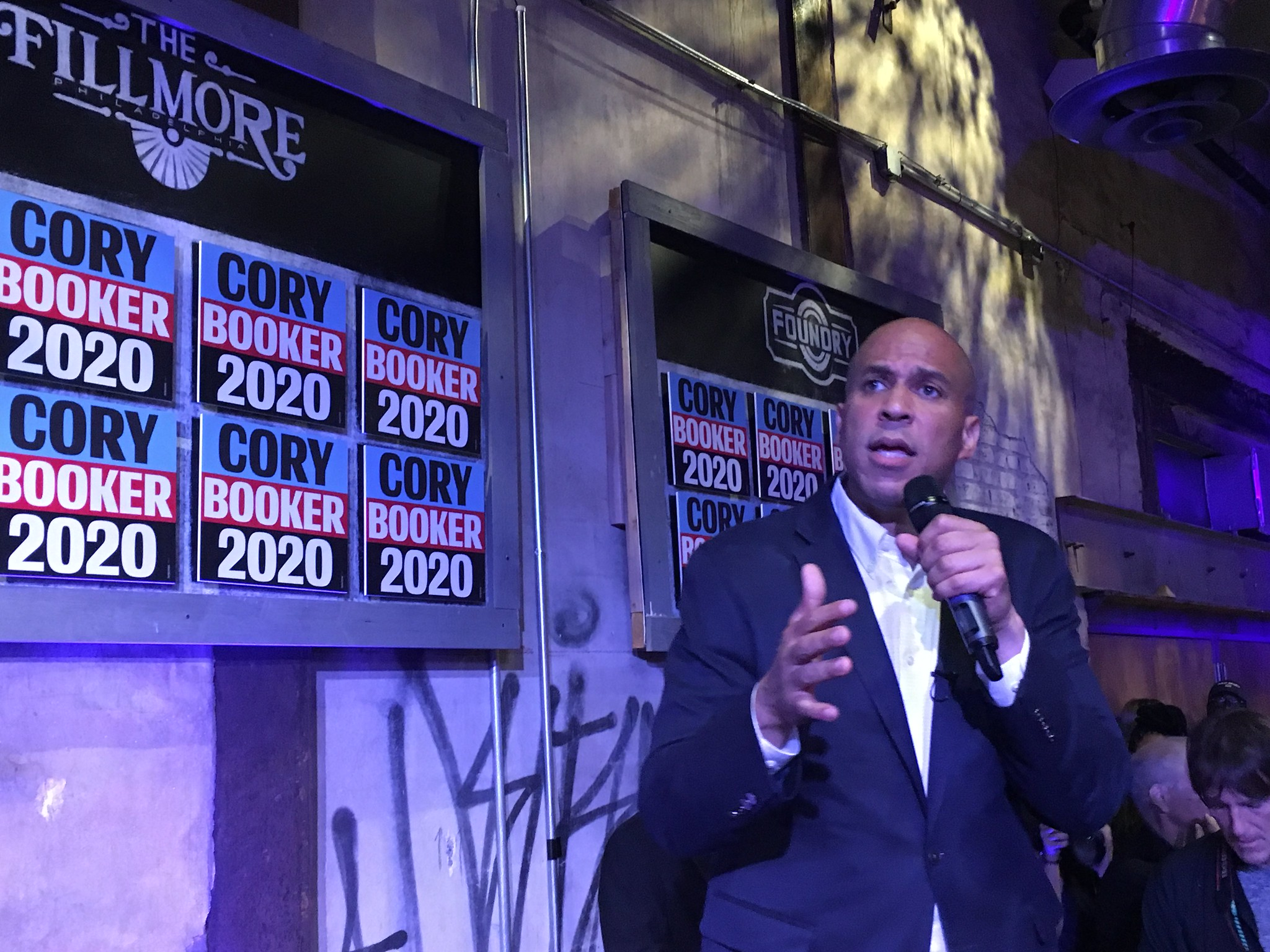 "Cory Booker urges Philadelphia to ""rise"" on August 7"