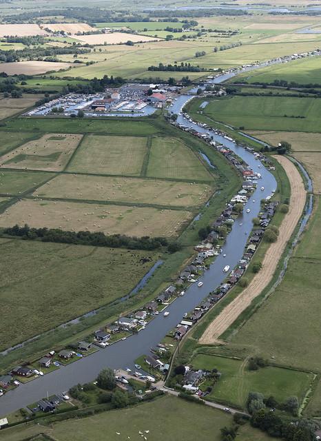River Thurne looking towards Potter Heigham - Norfolk UK aerial image