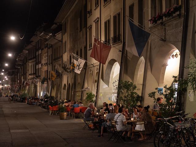 Summer dining in Bern
