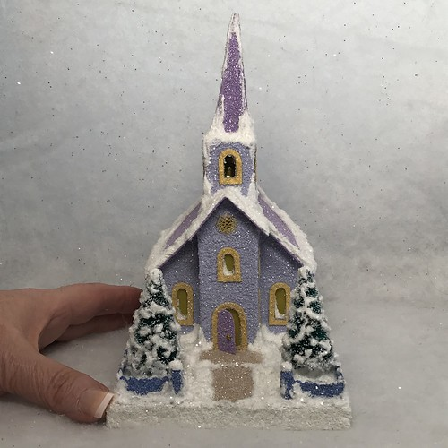 ORIGINAL Putz Church Light and Medium Purple