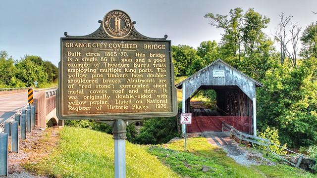 Grange City Covered Bridge - Hillsboro, Kentucky