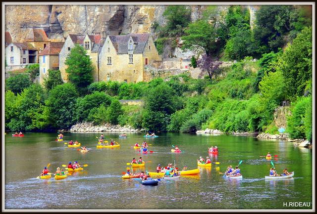Affluence sur la Dordogne