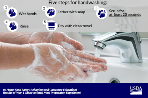 Five Steps for Handwashing