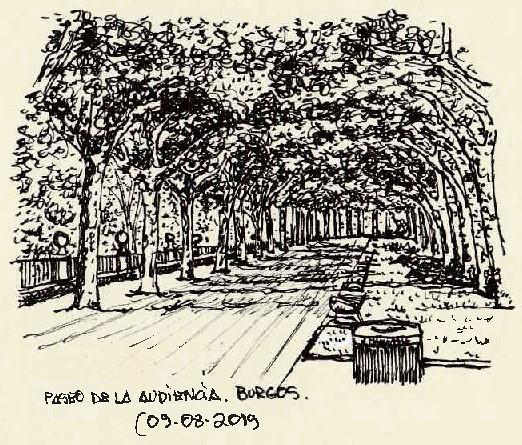 Burgos. Paseo de la Audiencia