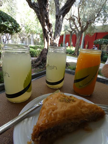 citronnade et baklava