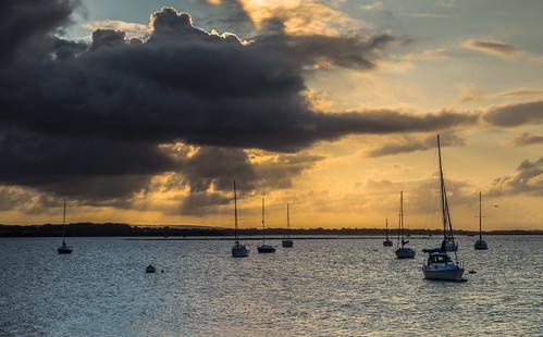 sunrise boats langstone langstoneharbour clouds dramaticclouds