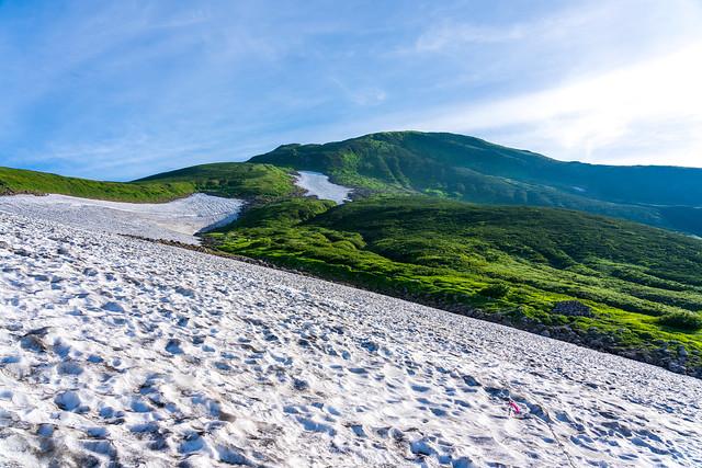 大雪渓横断