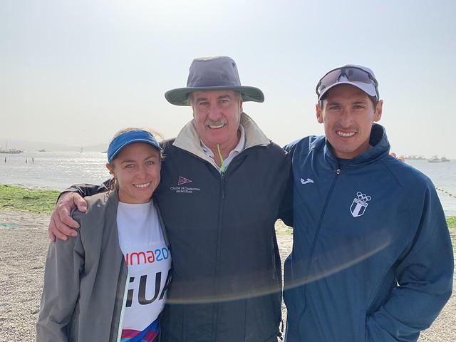 Juan Ignacio Maegli oro e Isabella Maegli plaza olímpica en Lima 2019