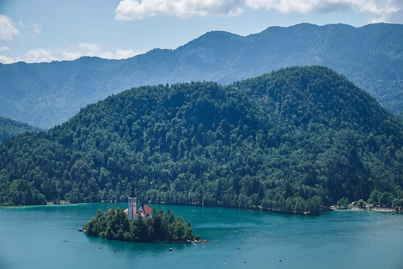 The only island on lake in Slovenia