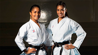 ¡Orgullo USIL! Andrea Almarza Cerpa y Sol Romaní Cáceres, destacadas deportistas y alumnas de las carreras de Psicología y Arquitectura, Urbanismo y Territorio de la Universidad San Ignacio de Loyola (USIL), junto a Saida Salcedo, ganaron la medalla de bronce en karate, modalidad de kata, representando al Perú en los Juegos Panamericanos Lima 2019.