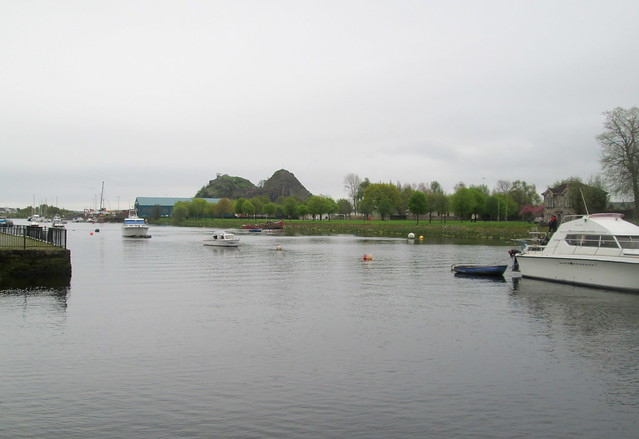 Dumbarton Rock from River Leven