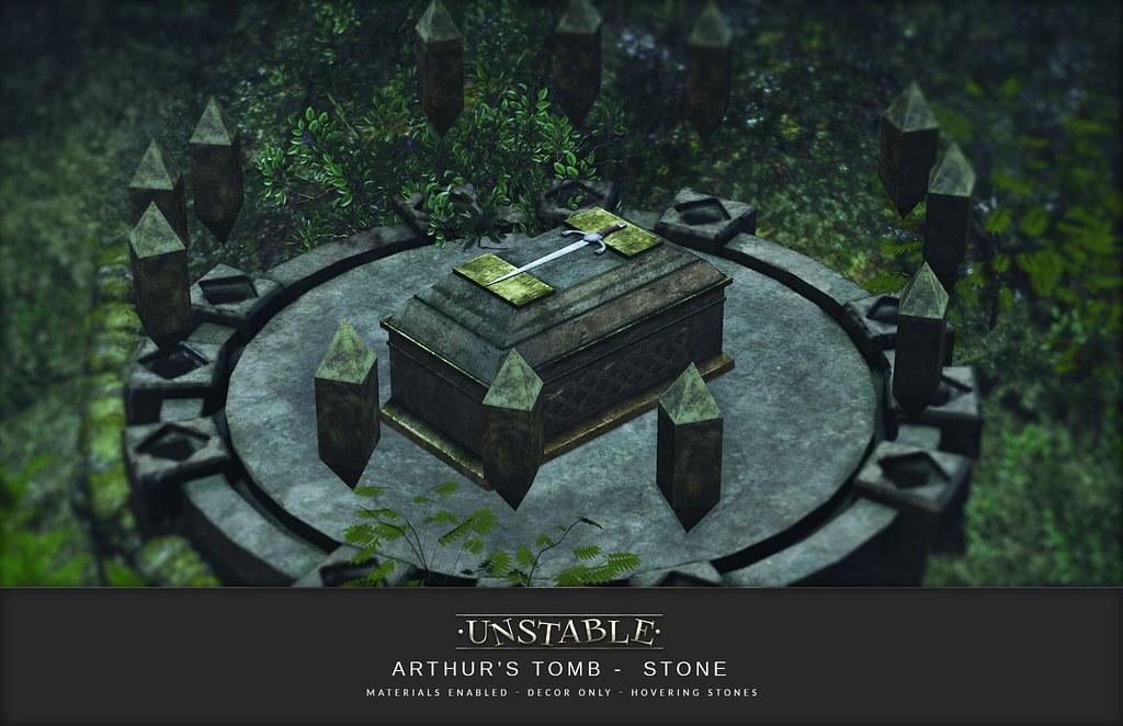 unstable. Arthur's Tomb Stone AD