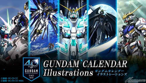 Gundam Calendar Illustration