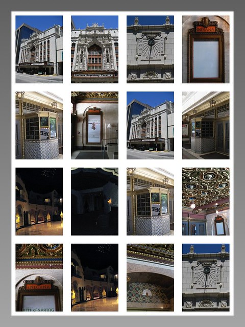 Indianapolis Indiana  ~  Indiana Repertory Theatre ~ ~ Historic  Ballroom  - Collage Interior and Exterior