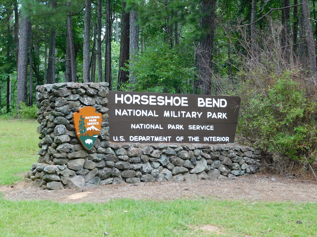 Horseshoe Bend National Military Park Sign