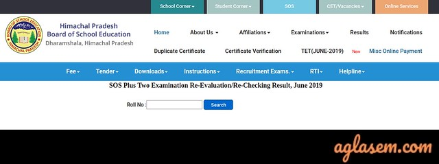 HP SOS 12th Revaluation/ Rechecking 2019 Result, Form, Date (Available)
