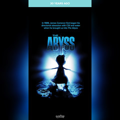 Timehop: The Abyss (1989 film) (08/09/19) #timehop #abe #20thcenturyfox #jamescameron #theabyss #sciencefictionfilm