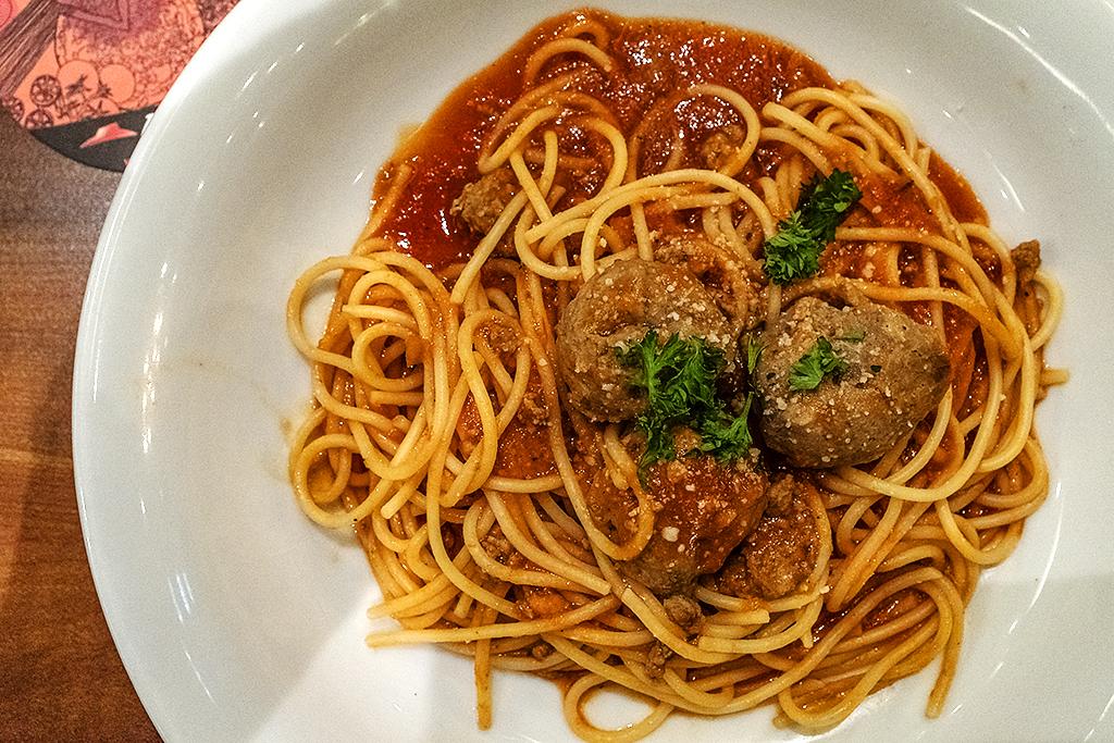 Spaghetti with meatballs at an Aeon Mall's Pizza Hut--Saigon
