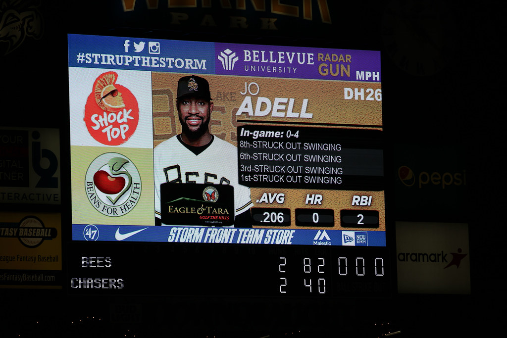 Rough night for Jo Adell with the golden sombrero