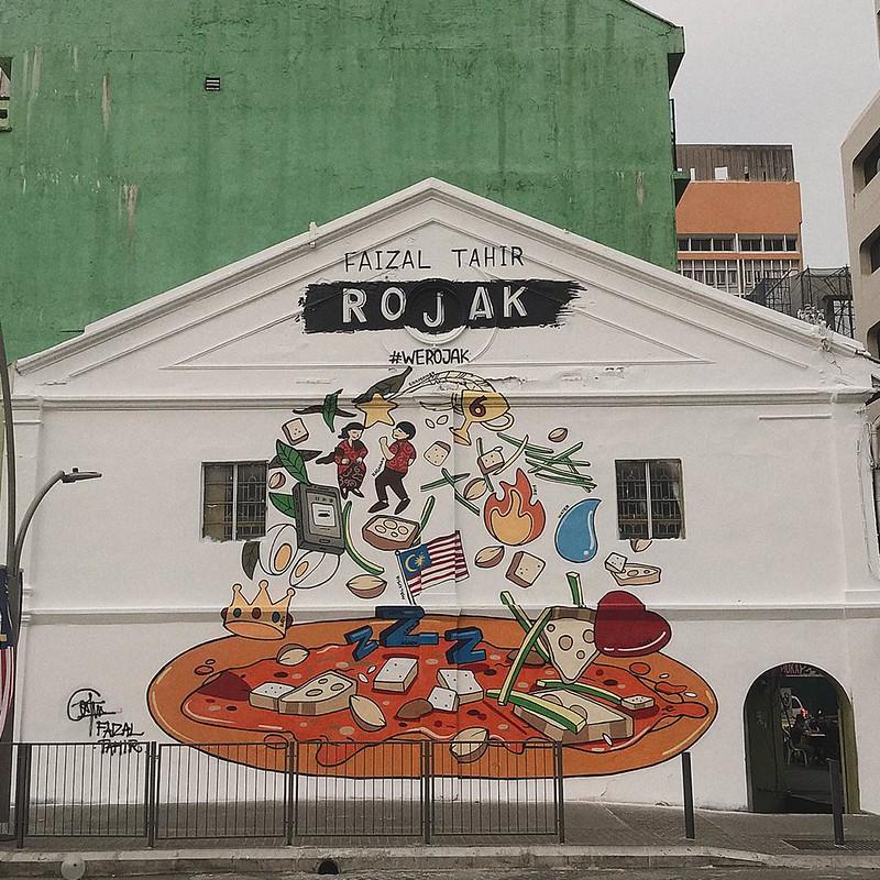 Faizal Tahir Abadikan Lukisan Mural Sempena Pelancaran Album ROJAK