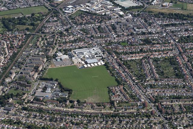 Shoeburyness in Essex - UK aerial image