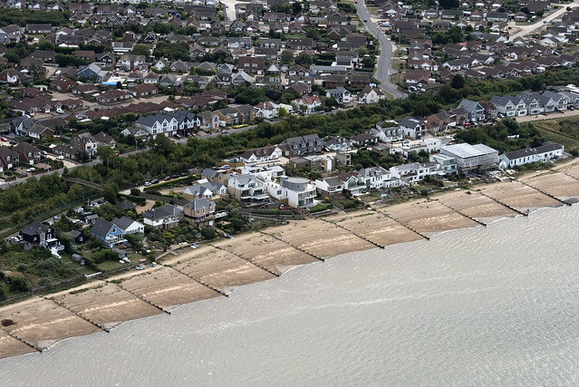Seasalter Beach aerial image - Kent UK