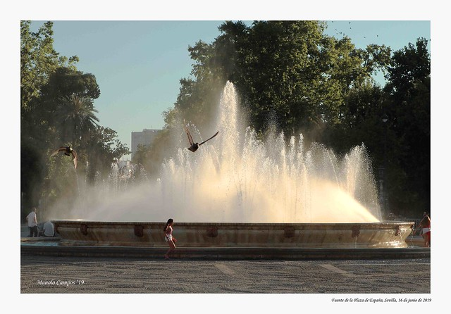 Fuente de la Plaza de España, Sevilla.