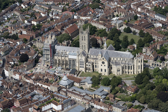 Canterbury Cathedral aerial image