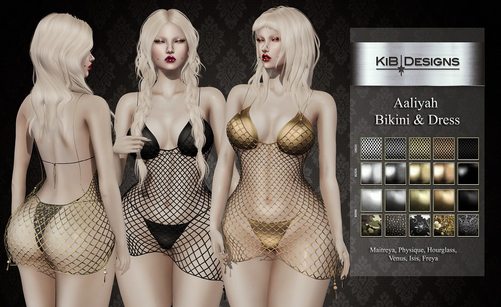 KiB Designs - Aaliyah Bikini & Dress @Suicide Dollz - TeleportHub.com Live!